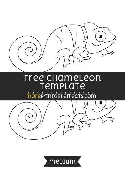 Free Chameleon Template - Medium   Shapes and Templates