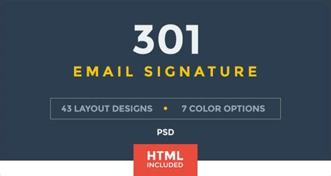 50+ Best Professional HTML & Outlook Email Signature