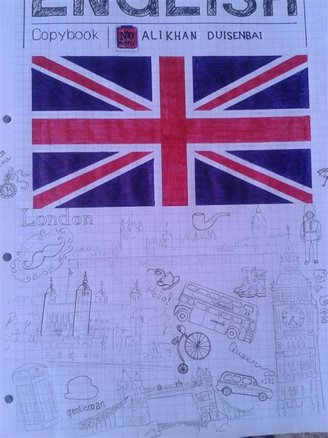 The first page of my copybook English on Behance
