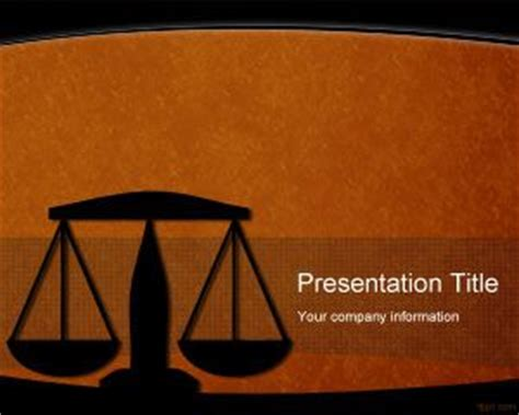 Free Legal PowerPoint Template