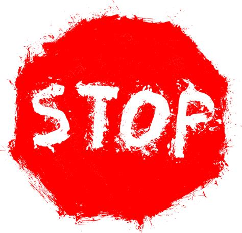 Grunge Stop Sign (PNG Transparent)   OnlyGFX