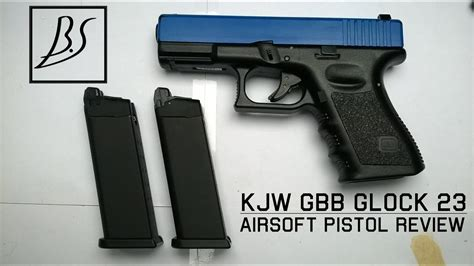 Airsoft Review   GBB Glock 23 By KJ Works - YouTube