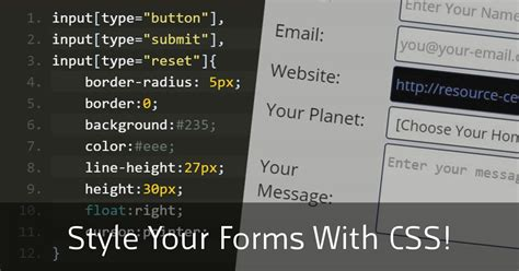 How to Style Your Forms Using CSS - Free CSS3 Tutorial