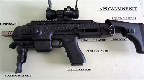 The APS carbine kit unboxing with end reveal with glock 17