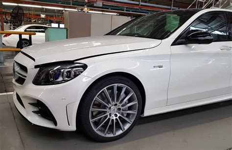 Real-Life Shots Of Merc's Facelifted C-Class From East