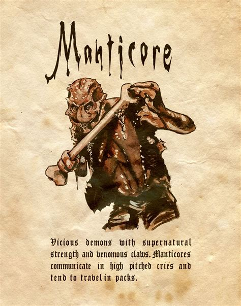 """""""Manticore"""" - Charmed - Book of Shadows 