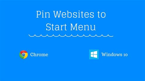 How to Pin Websites to Start Menu in Windows 10 from