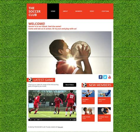 30+ Soccer Club Website Themes & Templates   Free