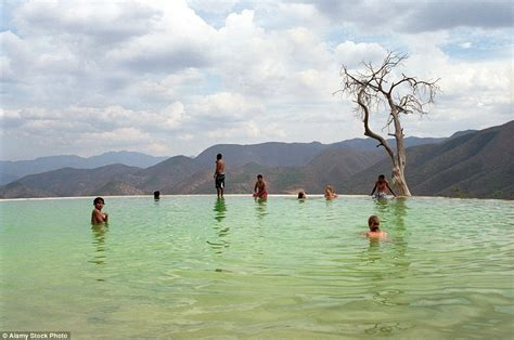 Hierve el Agua in Mexico is nature's infinity pool that