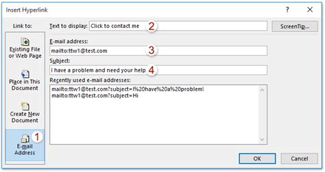 How to add a mailto link in Outlook signature?