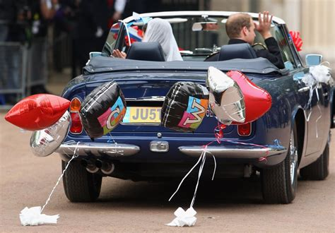 Prince William and Kate Middleton Drive a Vintage Aston