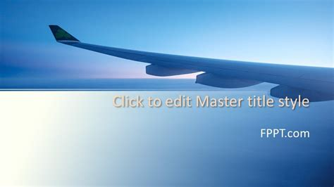 Free Airplane Wing PowerPoint Template - Free PowerPoint