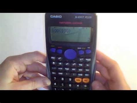 The log base ten function on the CASIO fx-83GT calculator