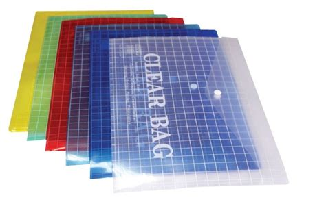 My Clear Bag, A4 Size, Assorted Colors, 10/Pack | Dubai