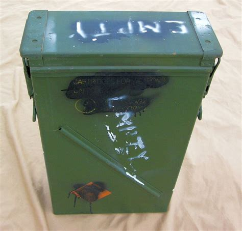 81mm HE M889A1 Mortar Ammo Can, 120mm, Military Surplus