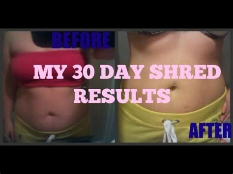 My 30 Day Shred Results before and after pics - YouTube