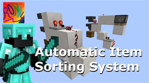 BEST Minecraft ITEM SORTING SYSTEM Tutorial: Optimized for